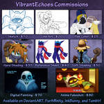 Commission Price Sheet + Info by VibrantEchoes