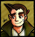 Ace Attorney - Dick Gumshoe (Colored sketch) by MereldenWinter