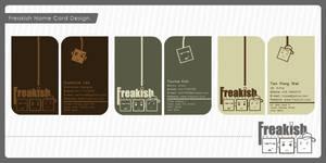 Freakish name card design by iamcadence