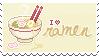 Ramen Love Stamp by Kezzi-Rose