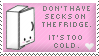 Secks on the Fridge Stamp by Kezzi-Rose