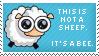 Sheepish Bee Stamp by Kezzi-Rose
