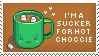 Hot Chocolate Stamp by Kezzi-Rose