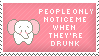 Pink Elephants Stamp by Kezzi-Rose