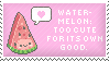 Watermelon Stamp by Kezzi-Rose