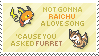 Raichu 'n' Furret Stamp by Kezzi-Rose
