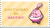 Happiny Stamp by Kezzi-Rose