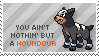 Houndour Stamp by Kezzi-Rose