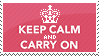Keep Calm Stamp by Kezzi-Rose