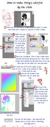 The Colorful line art tutorial by PocketFairyChibi