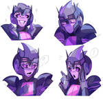 Commission: Nightlight Expression Sheet [Option A] by LillinApocalypse