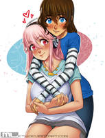 Brooke and Super Sonico by MLeth