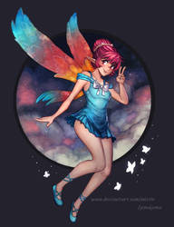 Collab - Erylia in the Clouds by MLeth