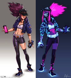 Collab - League of Legends - Akali by MLeth