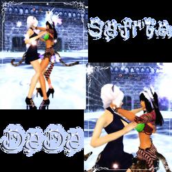 Sefria and DeDe by Dark-Devil-Fox