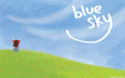 blue sky-widescreen wallpaper by Kageyoshi07