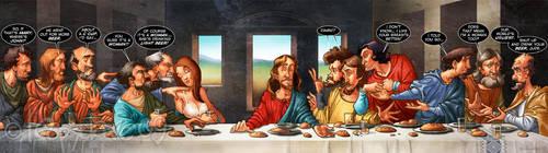 Dan Brown's Last Supper by Loopydave