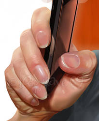 texting hand details by Loopydave
