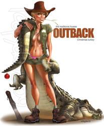 Outback xmas turkey by Loopydave