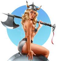 The return of Viking Barbie by Loopydave