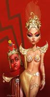 Aura and Fellini by Loopydave