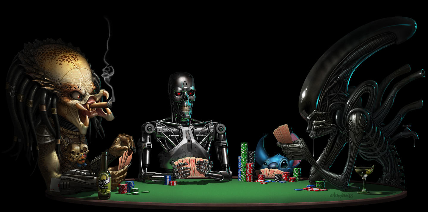 scifi poker by Loopydave