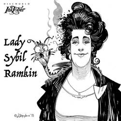 Inktober 10 Lady Sybil Ramkin by Loopydave