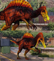 PCE Skin Edit - LavaFlow Spino by albinoraven666fanart