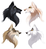 Autumn Ridge- wolf rp- free adoptables by albinoraven666fanart
