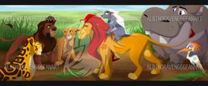 Kovu Meets the Lion Guard by albinoraven666fanart