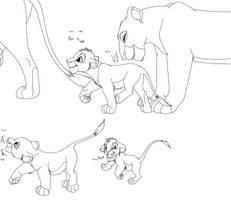 Lion family base by kisini