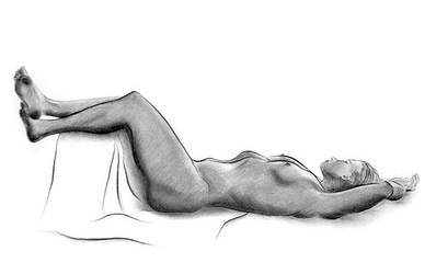 Nude figure drawing - Charcoal by AKA-HiddenSigns