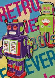 Retro Robot poster by Pirlipat