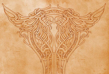 Art nouveau - pillar ornament by MermaliorX