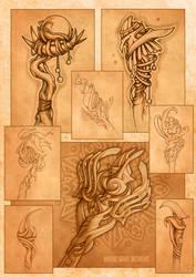 Magic Staffs by MermaliorX