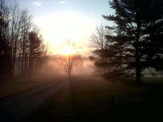 Sunrise Mist by killerlance
