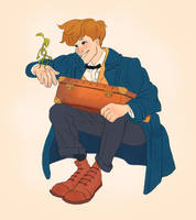 Newt Scamander by chrispycrust