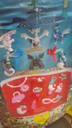 Pokemon and Hello Kitty Happy Meal Toys by JerryGamer720