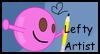 Lefty Artist Stamp by WinenRoses