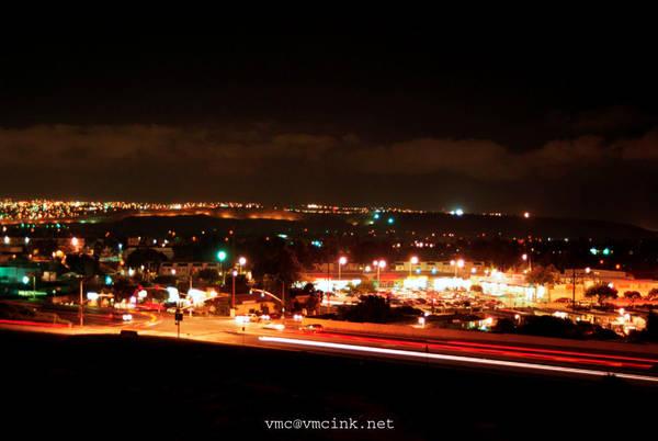 Chula Vista at Night, Border by vmcampos