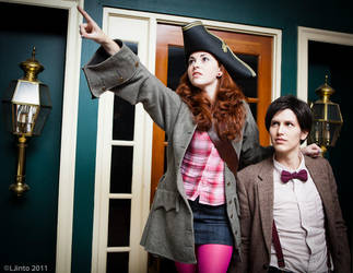 Off To Sea - Doctor and Amy by HelenaTears