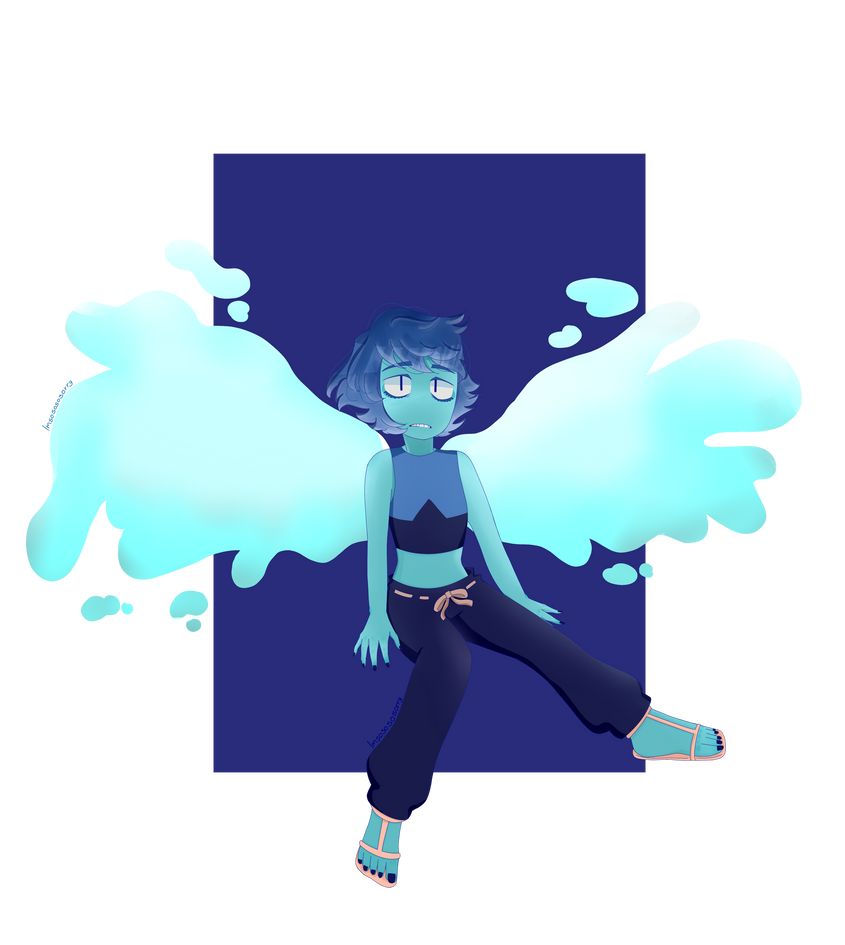 Ok ..... I HAD to draw lapis, I mean they are my favorite gem,, and the new desing are so MMmmmMMMMMMMmmmm   Sooooo i dont really like how I draw the wings buttttt..... aaaamm yeah H...