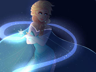 elsa frozen by Invader-celes