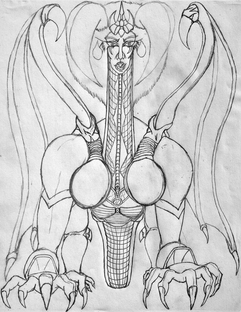 Nahntin-Dragon (Pencil-Drawing) 0a (2) by WilliamsWorksEbooks