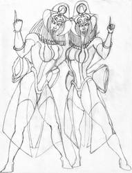Fatima and Fatina  (PENCIL Drawing) 0b (2) by WilliamsWorksEbooks