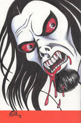 Morbius the Living Vampire sketch cover by Ragnaroker