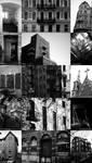 Black and White Architecture Collage by GabrielBStiernstrom