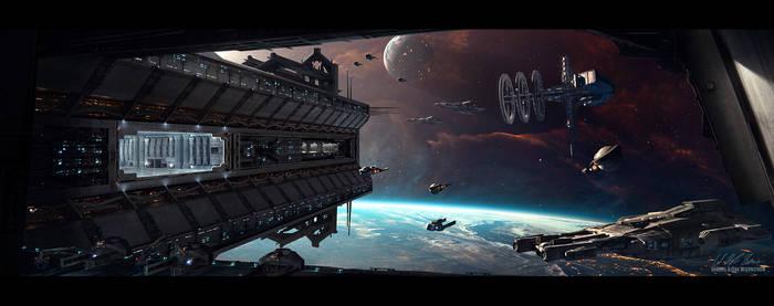 Hades' Star - Space Station by GabrielBStiernstrom