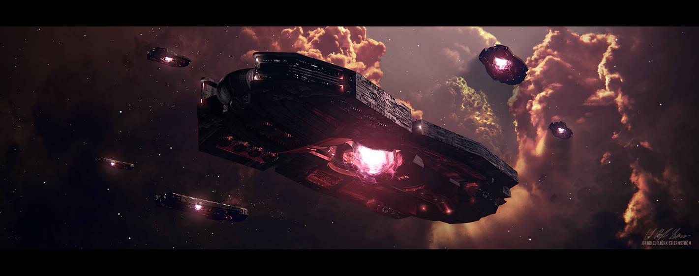 Hades' Star - Cerberus Colussus by GabrielBStiernstrom