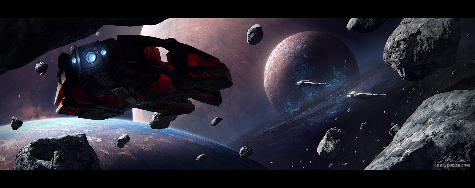Hades' Star - Cerberus Interceptor by GabrielBStiernstrom